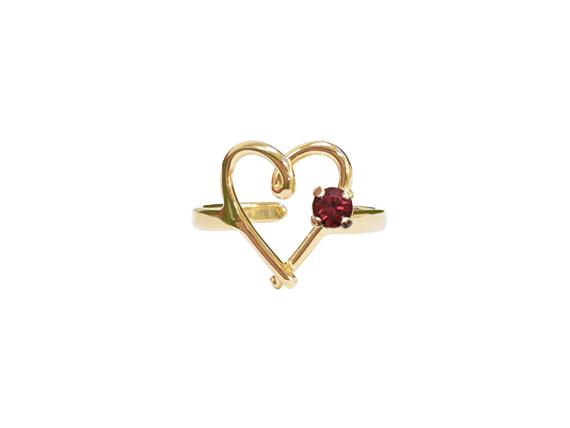 bague coeur made in france swarovski marseille noakis bijoux mode jewel ring marseille fantaisie creatrice